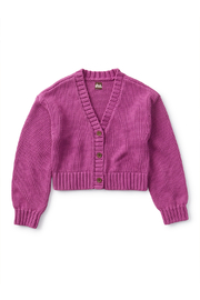 Tea Collection  Lovely Layers Cardigan - Passionfruit - Product Mini Image