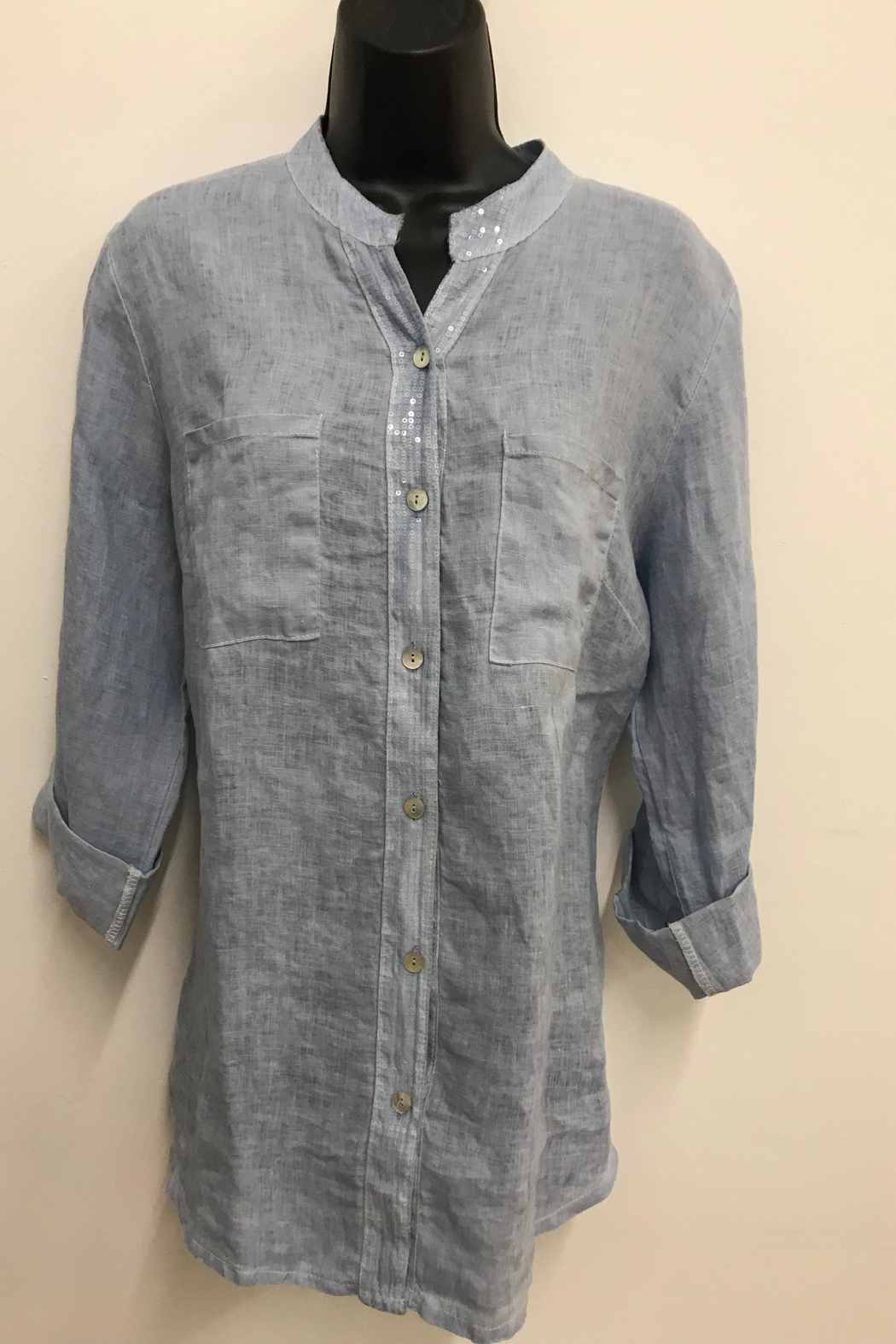 Charlie B. Lovely Linen Shirt - Front Cropped Image