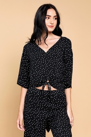 Mine Lovely Polka-Dots Top - Front cropped