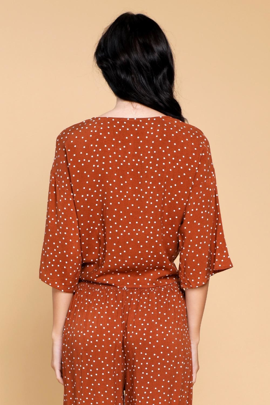 Mine Lovely Polka-Dots Top - Side Cropped Image