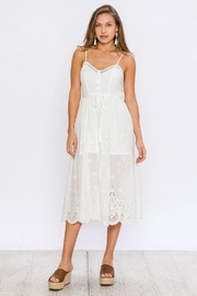 Flying Tomato Lovely White Midi - Product Mini Image