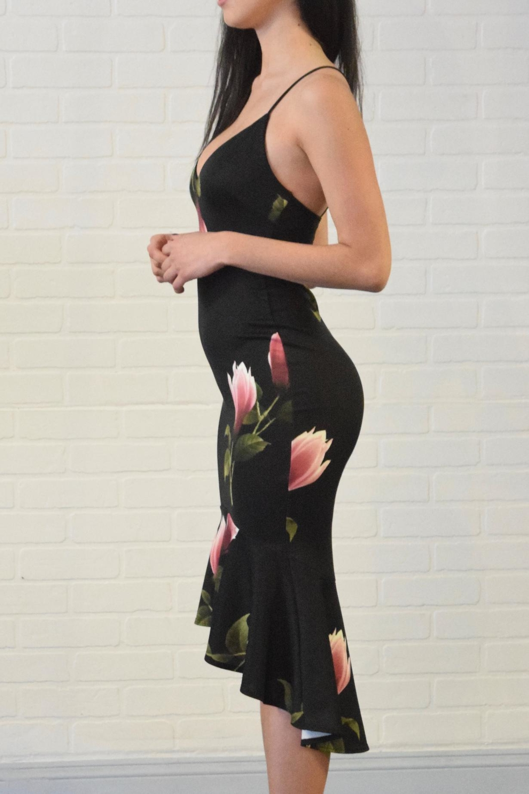 Lovely Day Floral Print Dress - Front Full Image