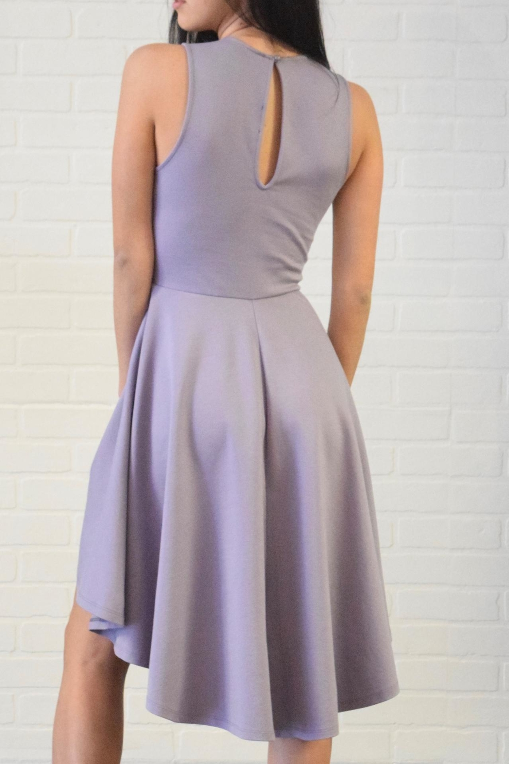 Lovely Day Hi-Lo Swing Dress - Side Cropped Image