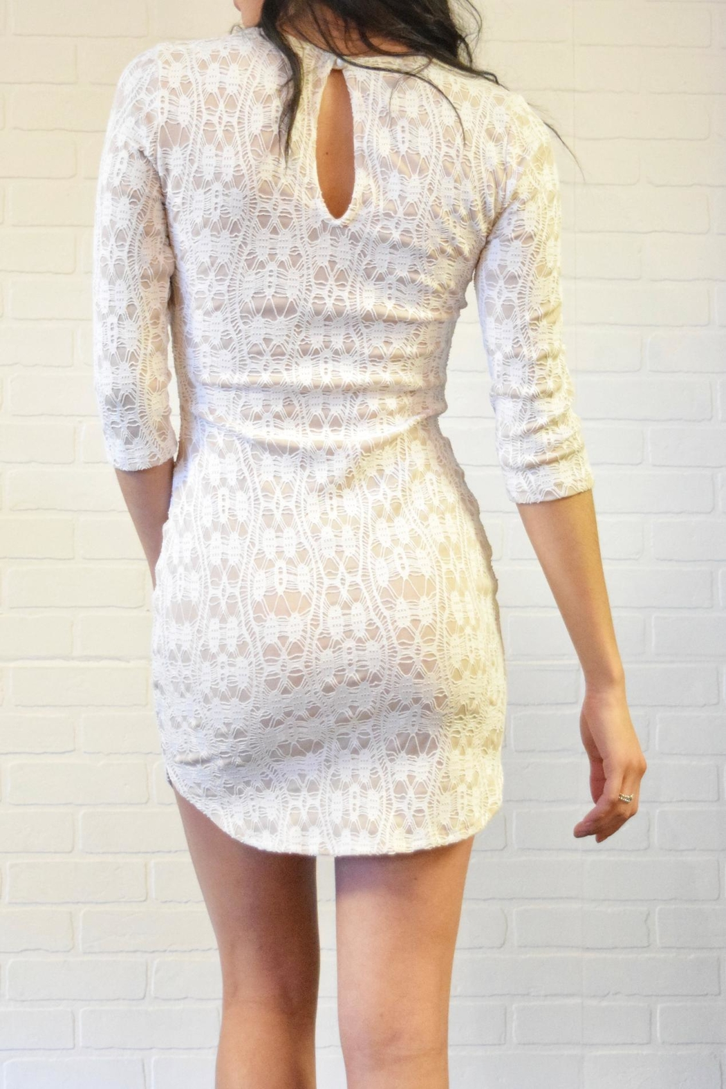 Lovely Day Lace Dress - Side Cropped Image
