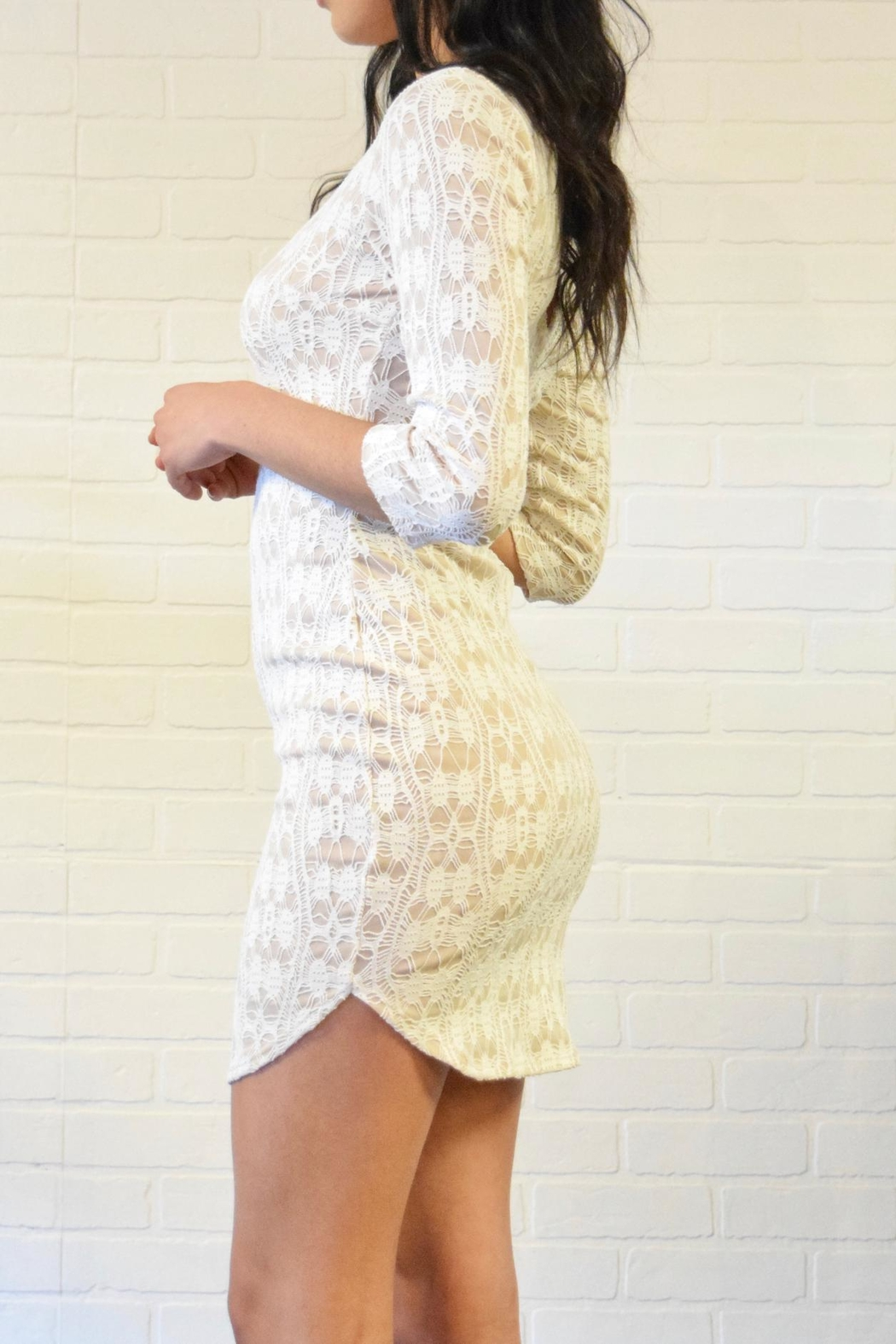 Lovely Day Lace Dress - Front Full Image