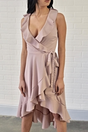 Lovely Day Ruffle Wrap Dress - Front cropped