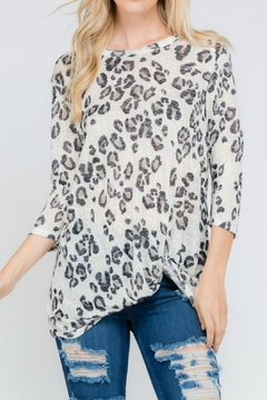Lovely J Animal Print Top-Plus - Product List Image