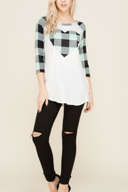 Lovely J Checker-Heart Top - Front cropped