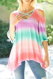 Lovely J Rainbow Top - Front cropped