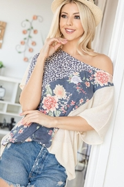 Lovely J Floral-Animal Print Top - Product Mini Image