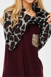 Lovely J Leopard Cowl Neck - Front full body