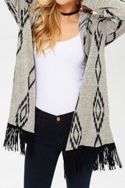 Lovely J Plus Fringe Cardigan - Product Mini Image