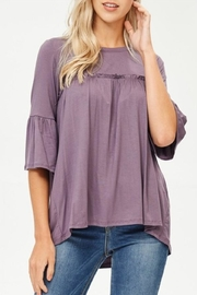 Lovely Melody 3/4 Sleeve Top - Front cropped