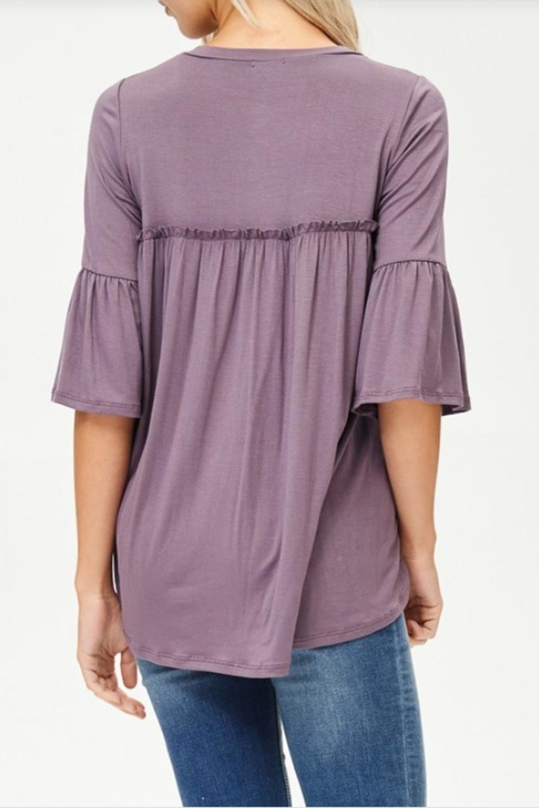 Lovely Melody 3/4 Sleeve Top - Back Cropped Image
