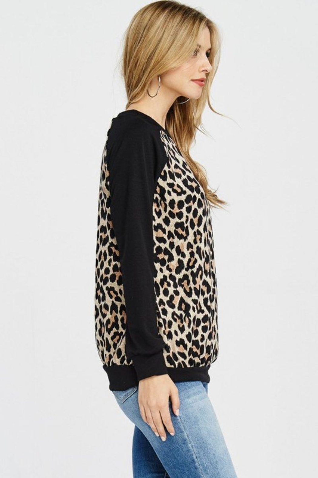 Lovely Melody Animal Print Sweater - Side Cropped Image
