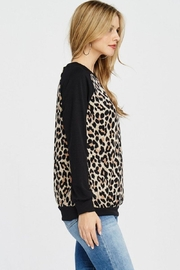 Lovely Melody Animal Print Sweater - Side cropped