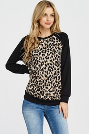 Lovely Melody Animal Print Sweater - Front cropped