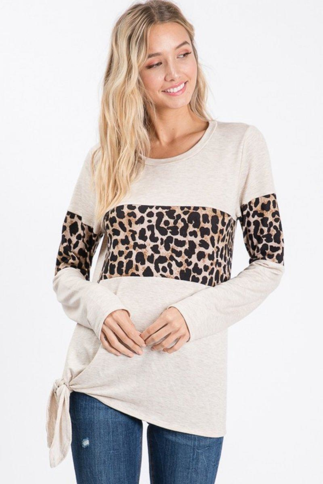 Lovely Melody Animal Print Top - Main Image