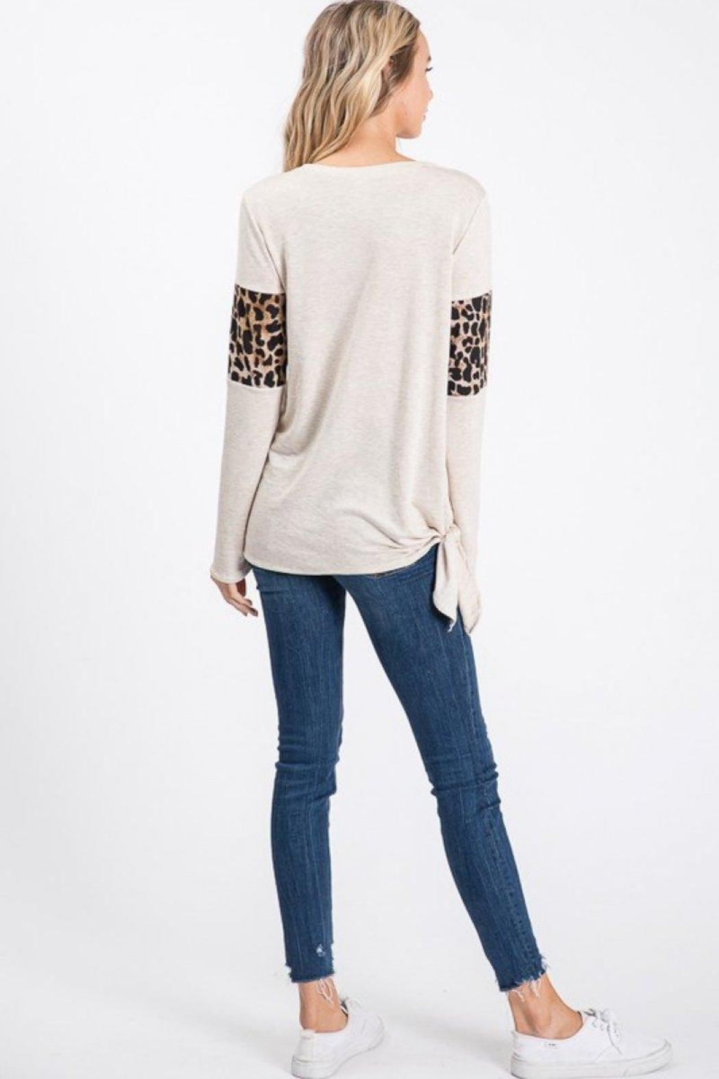 Lovely Melody Animal Print Top - Side Cropped Image