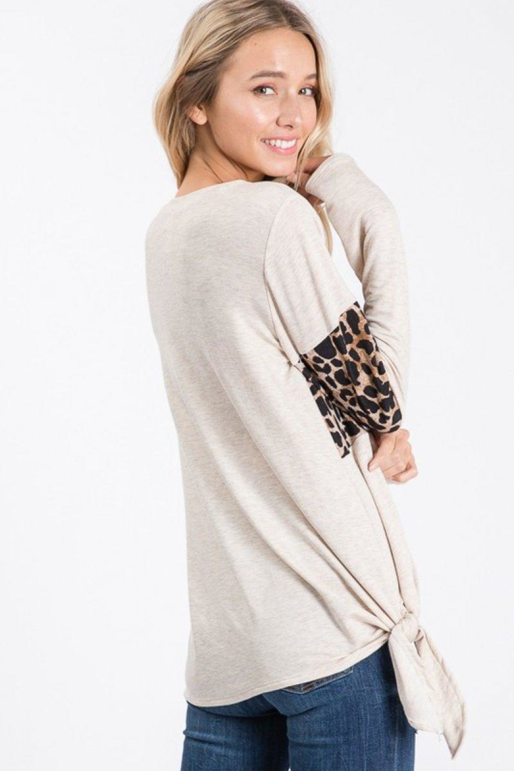 Lovely Melody Animal Print Top - Back Cropped Image