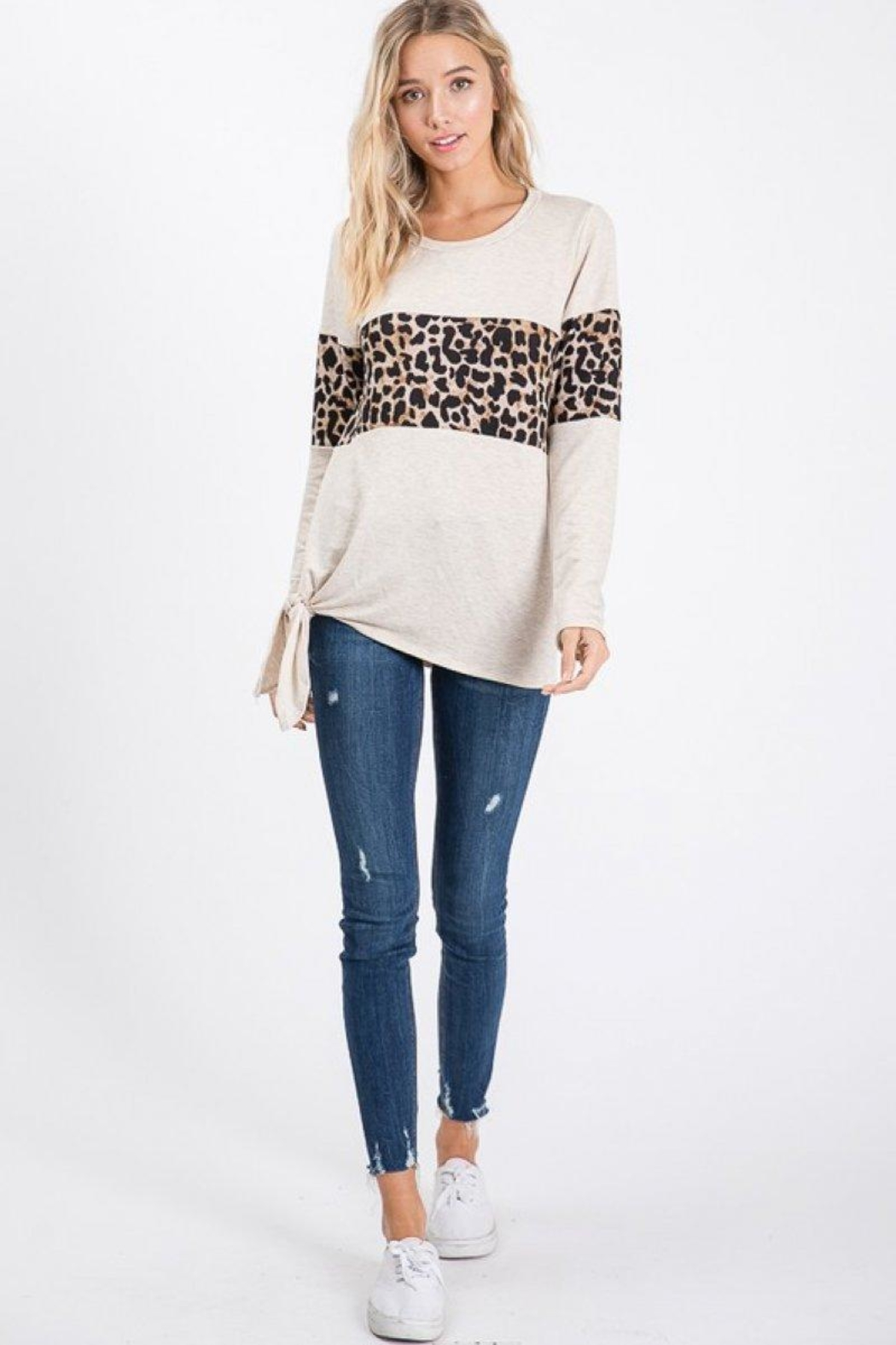 Lovely Melody Animal Print Top - Front Full Image