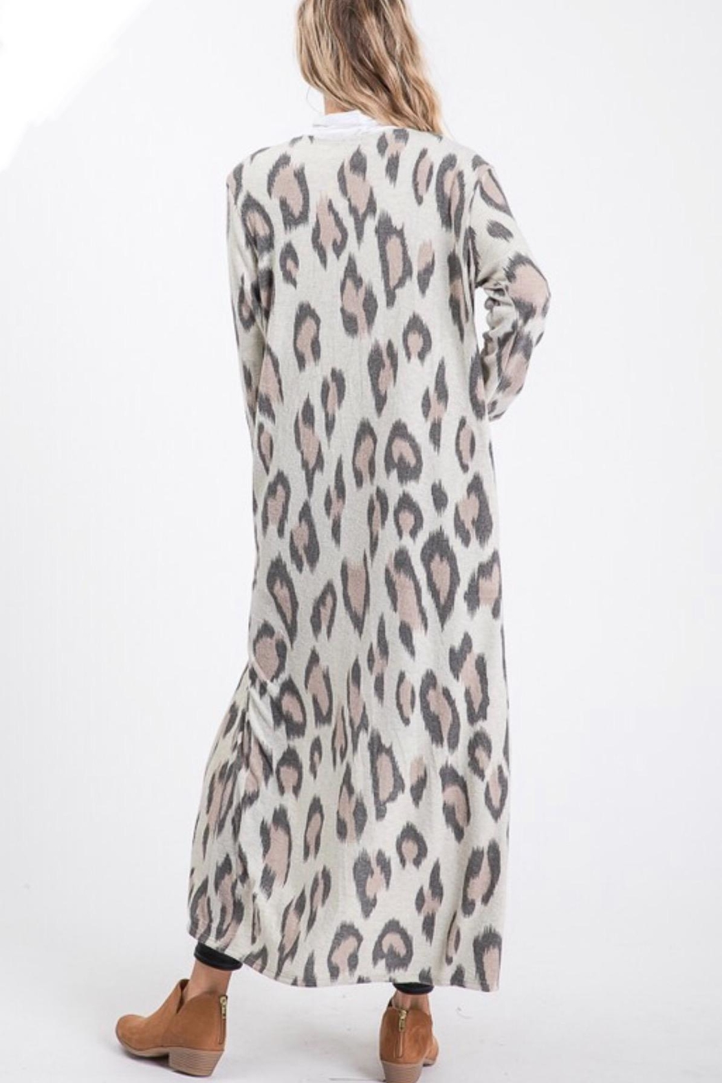 Lovely Melody Cheetah Print Cardigan - Side Cropped Image