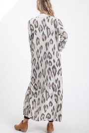 Lovely Melody Cheetah Print Cardigan - Side cropped