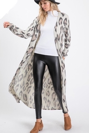 Lovely Melody Cheetah Print Cardigan - Front cropped