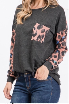 Lovely Melody Colorblock Animal-Print Top - Alternate List Image