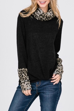 Lovely Melody Cowlneck Leopard Sweater - Product List Image