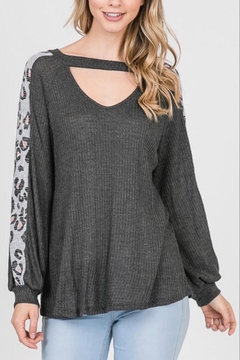 Lovely Melody Front-Opening Animal-Print Top - Product List Image