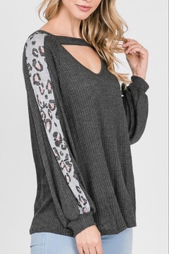 Lovely Melody Front-Opening Animal-Print Top - Alternate List Image