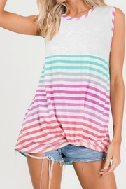 Lovely Melody Multicolor Striped Top - Product Mini Image