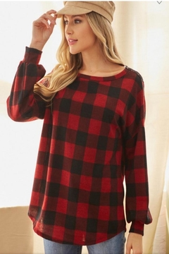 Lovely Melody Plaid Embroidery Top - Alternate List Image
