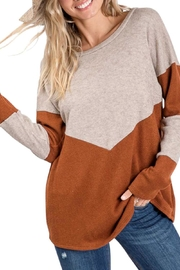 Lovely Melody Rust-Beige Top - Product Mini Image