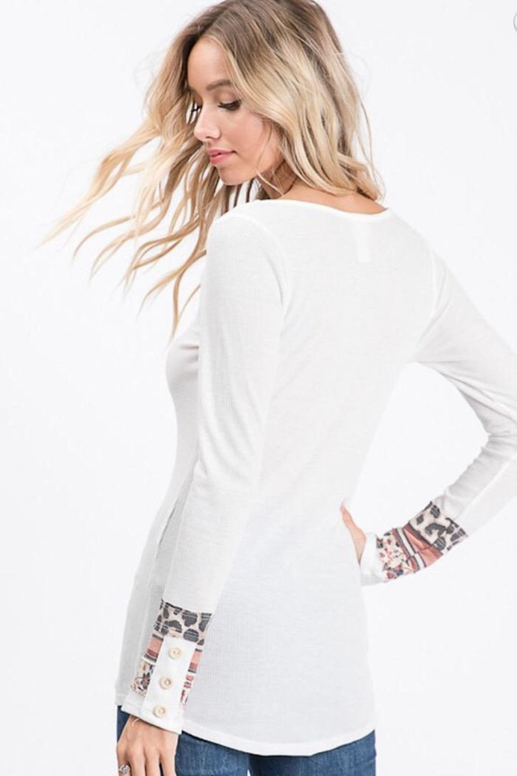 Lovely Melody Thermal Tunic Top - Front Full Image
