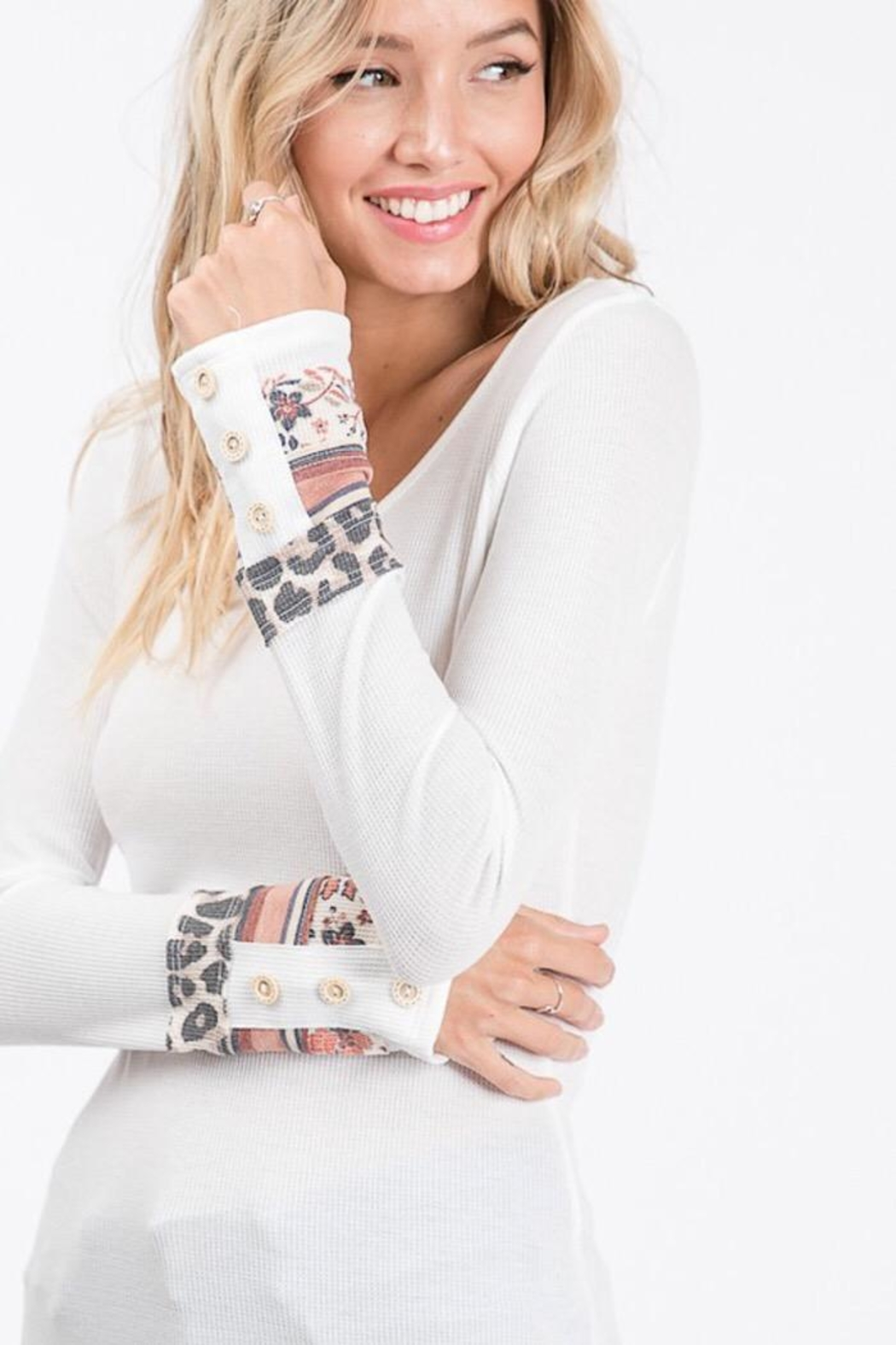 Lovely Melody Thermal Tunic Top - Main Image
