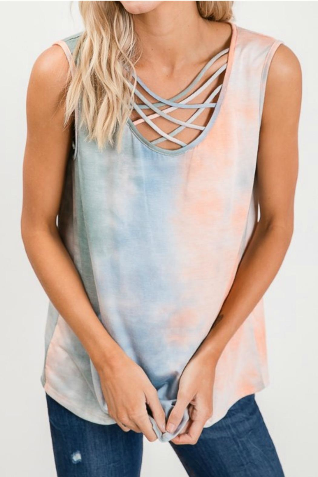Lovely Melody Tie Dye Tank - Front Full Image