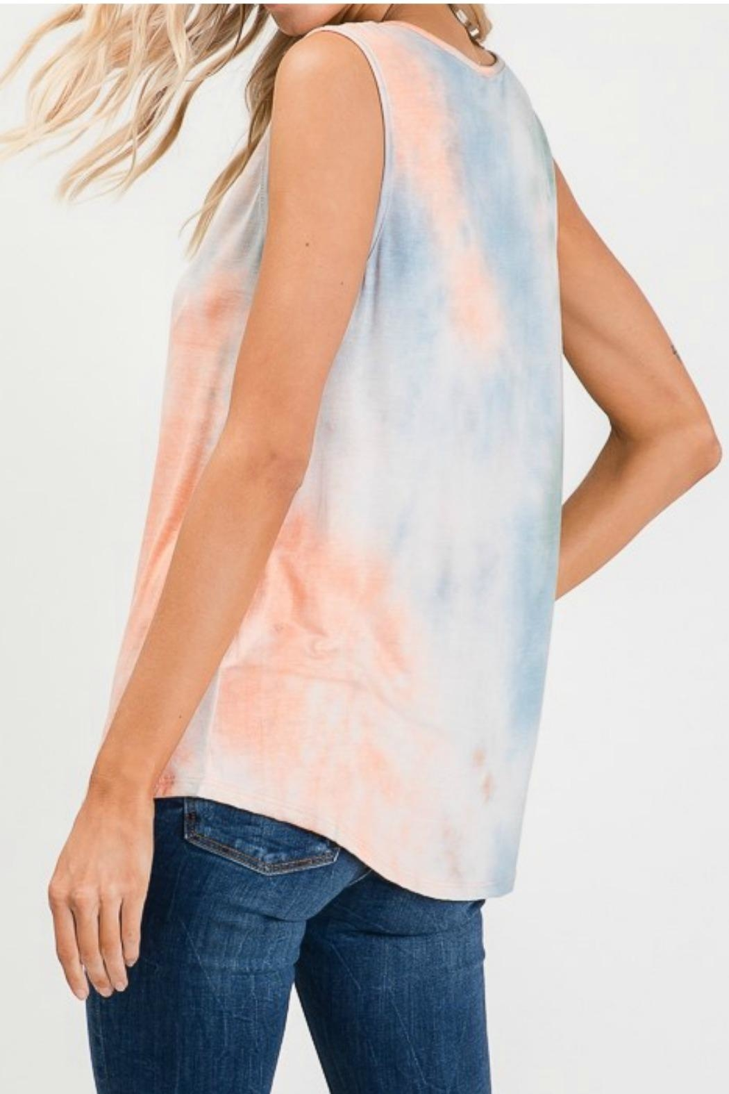 Lovely Melody Tie Dye Tank - Side Cropped Image