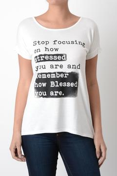 Shoptiques Product: Blessed Graphic Tee