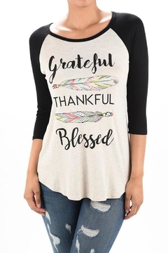 Lovely Souls Clothing Grateful Thankful Blessed - Product List Image