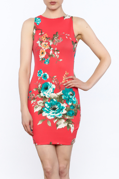 Shoptiques Product: Floral Sleeveless Bodycon Dress
