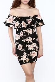 lovelyday Floral Off-Shoulder Dress - Product Mini Image
