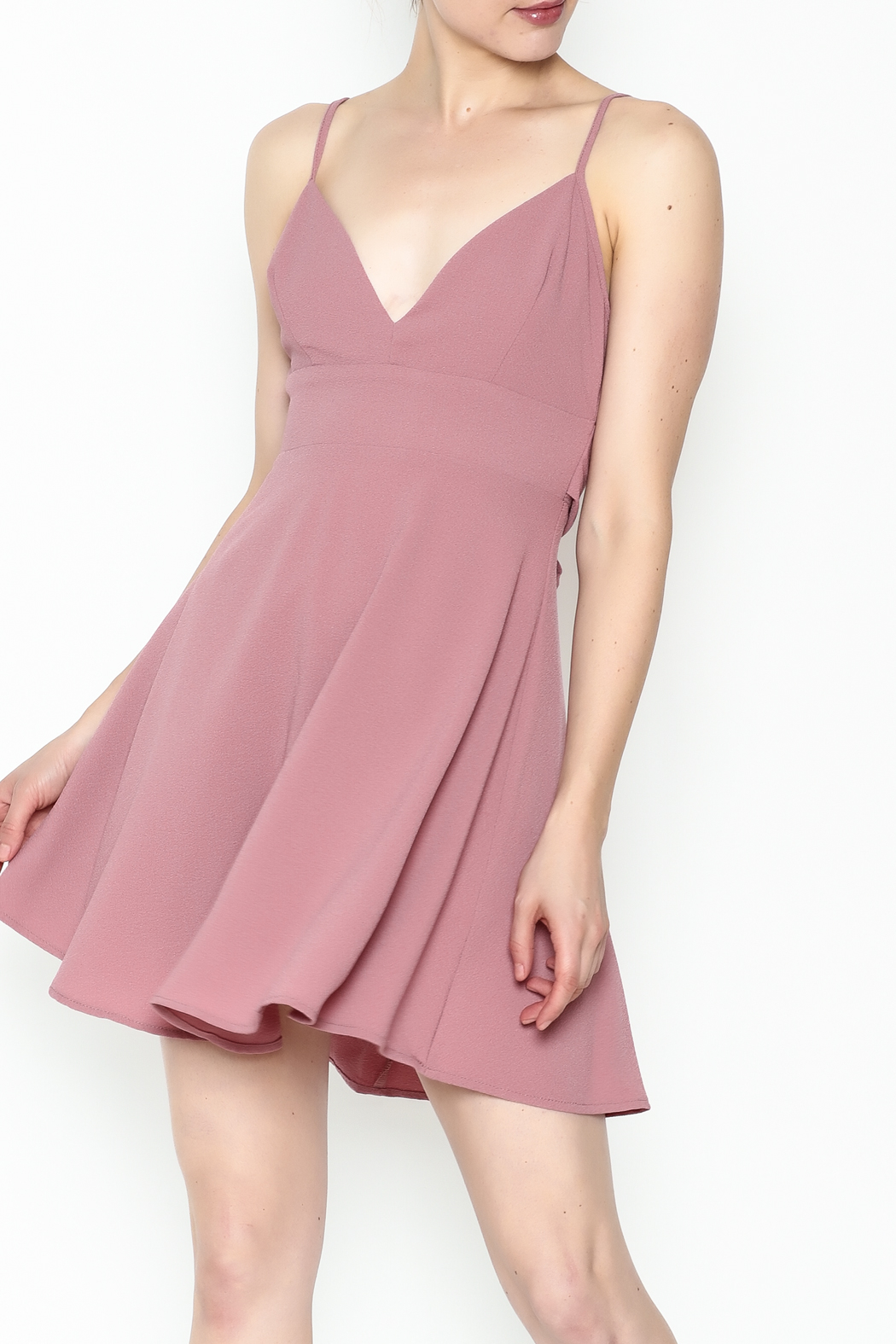 lovelyday Knot Back Dress - Front Cropped Image