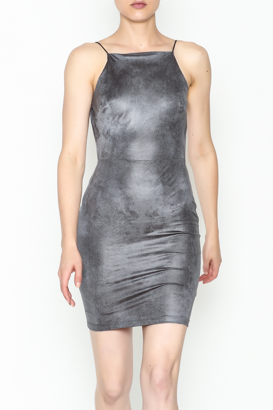 lovelyday Metallic Dress - Front Cropped Image