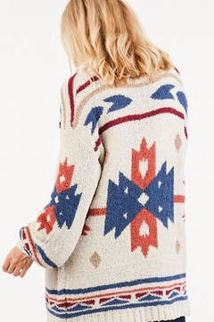 LoveRiche Aztec Print Cardigan - Alternate List Image