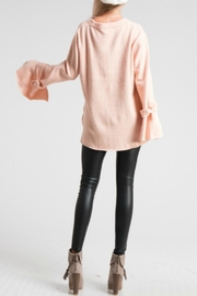 LoveRiche Bell Sleeve Pink Sweater - Back cropped