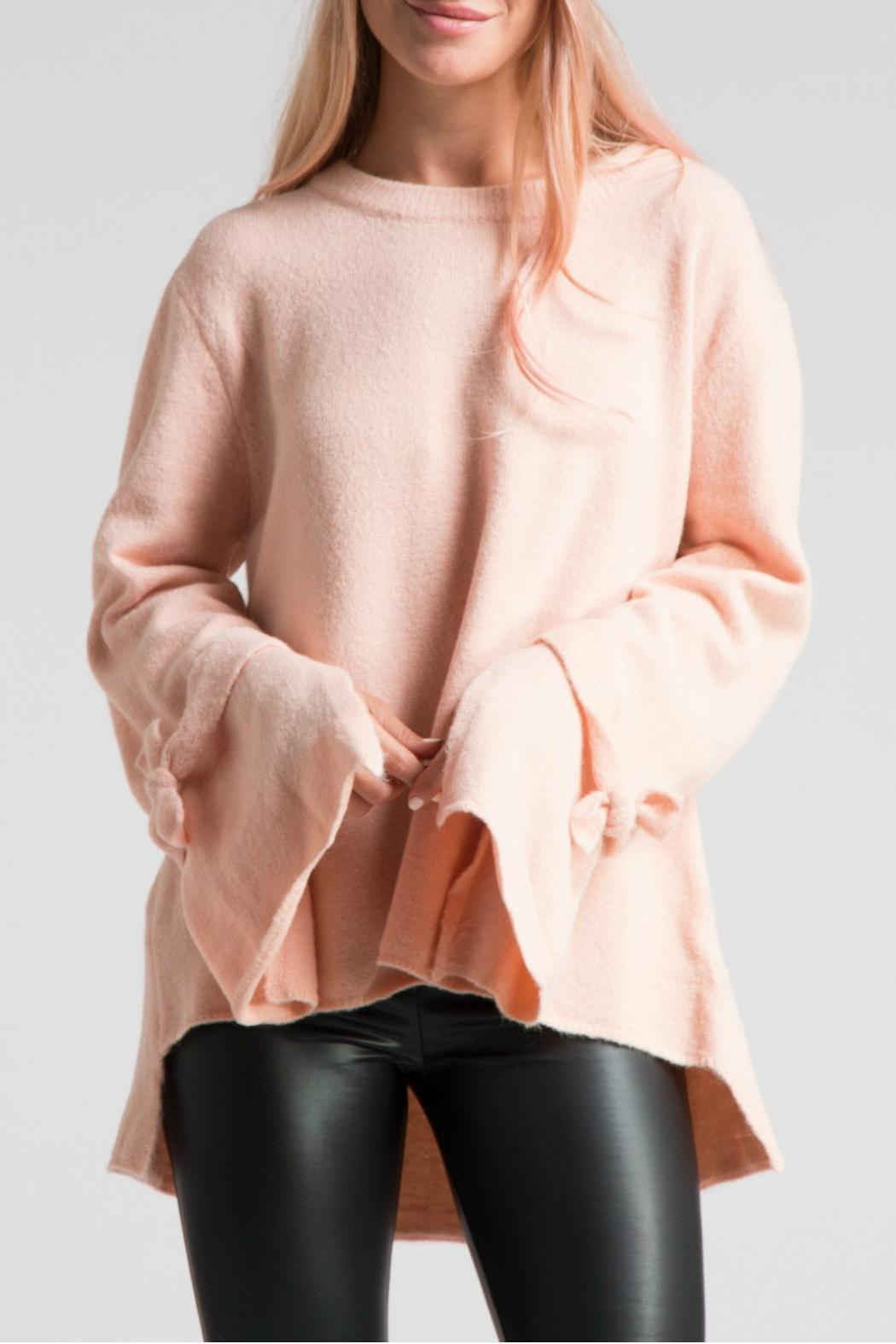 LoveRiche Bell Sleeve Pink Sweater - Main Image