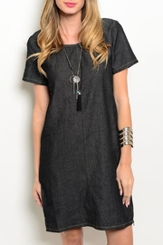 LoveRiche Black Denim Dress - Product Mini Image