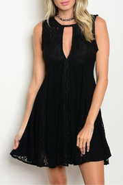 LoveRiche Black Lace Dress - Product Mini Image